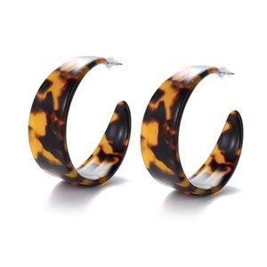 NWT - Round C, Hoop Tortoiseshell  Earrings